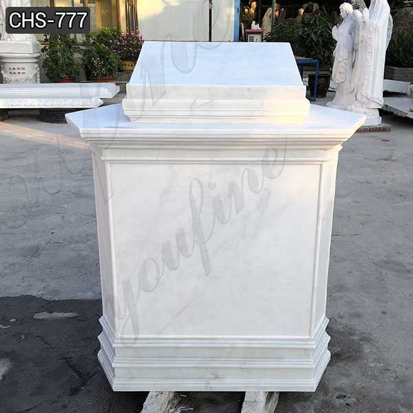White Marble Pulpit for Catholic Church Decor