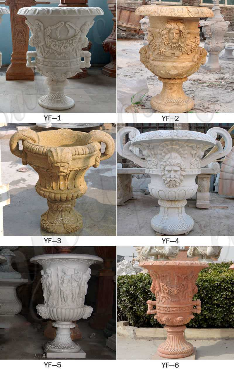 large outdoor flower pots with double ears garden pots and planters for sales