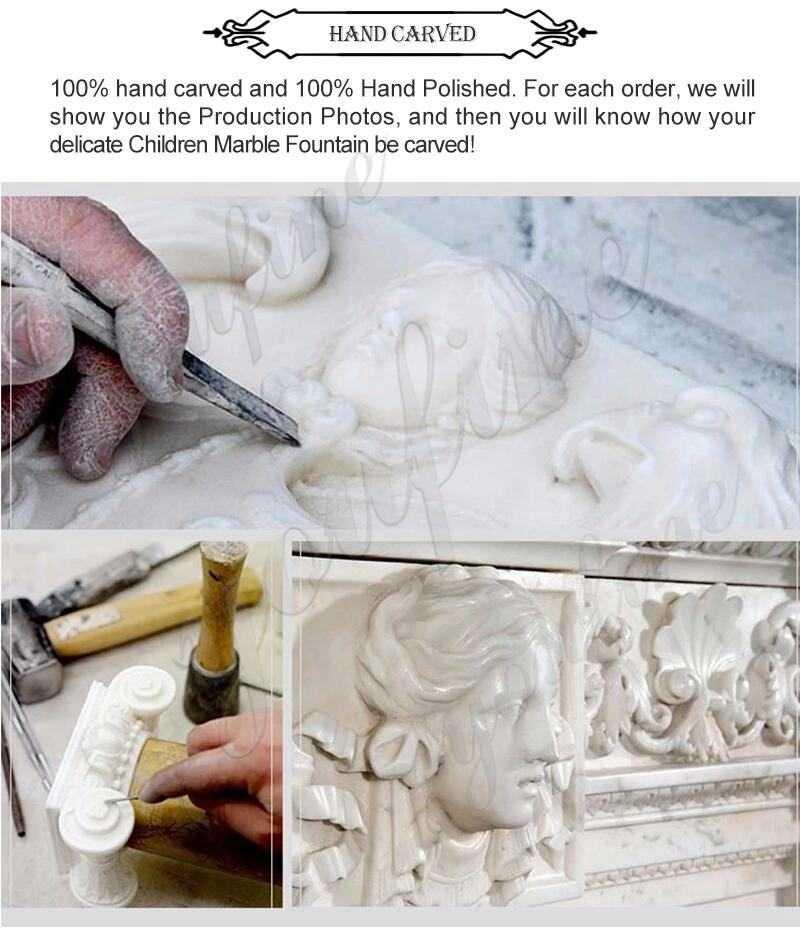 process of Maitreya Buddha marble statue