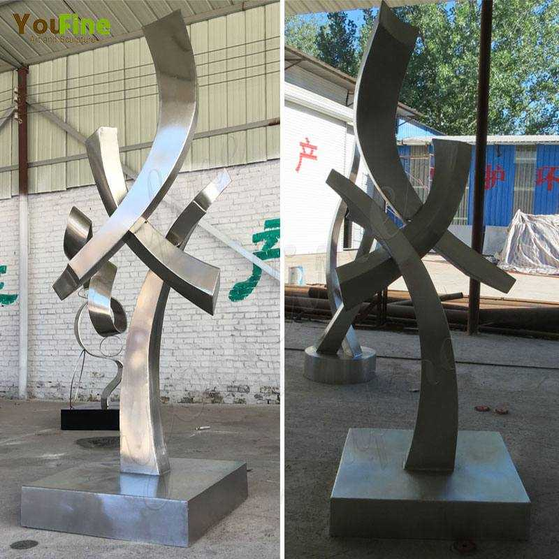 Abstract-Metal-Garden-Stainless-Steel-Sculptures-Supplier
