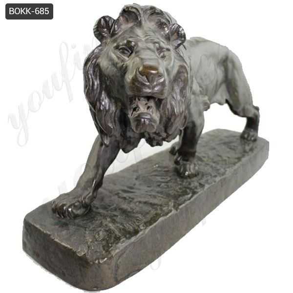 Antique Bronze Lion Statue for Home Decor Wholesale BOKK-685