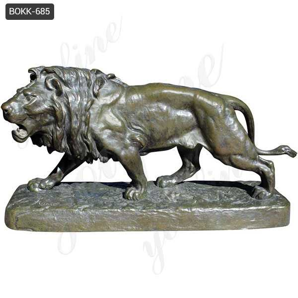 Antique Bronze Lion Statue for Home Decor