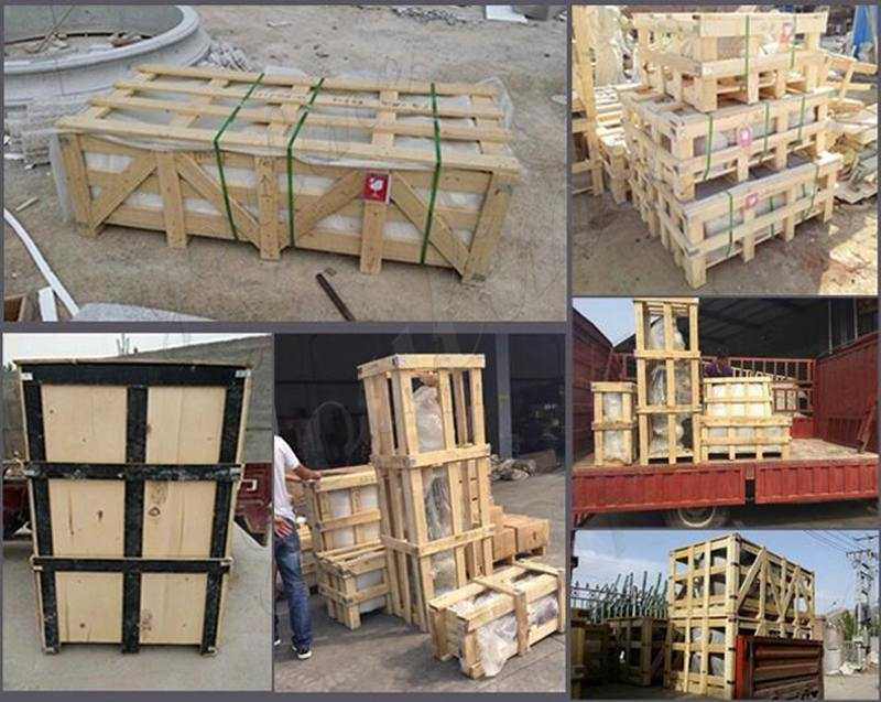 Beige Marble Round Pillars for Residential Buildings Supplier