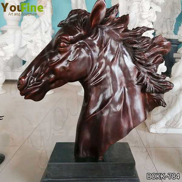 Custom Made Bronze Horse Head Statue for Sale BOKK-784