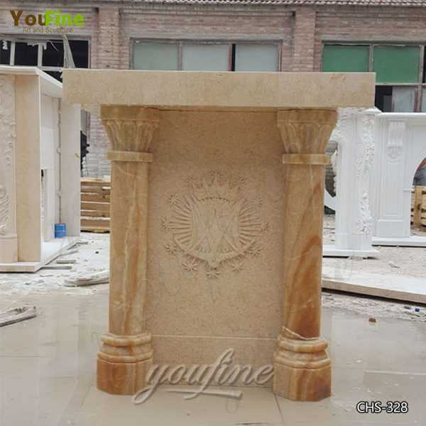 High Quality Beige Marble Pulpit for Church Use Supplier CHS-328