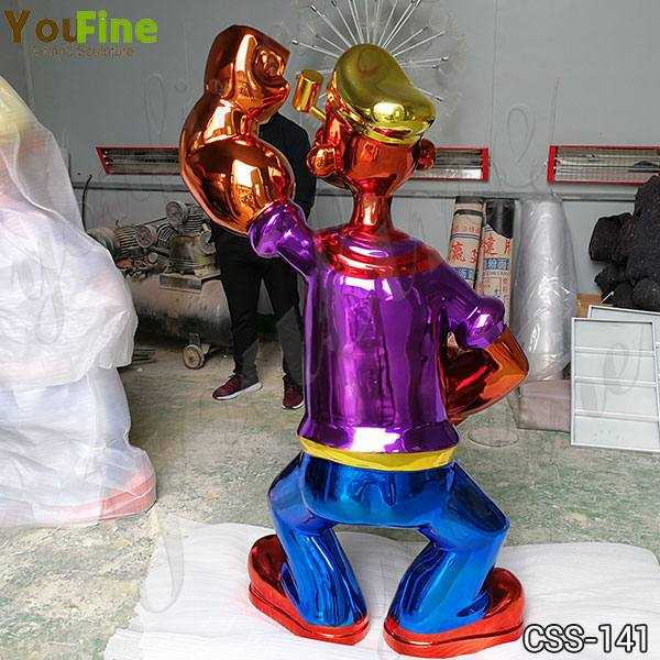 Jeff Koons Popeye Stainless Steel Sculpture Replica for Sale