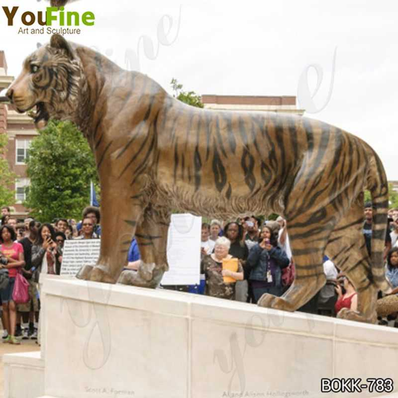 Large Bronze Tiger Statue for Sale for Outdoor Decor
