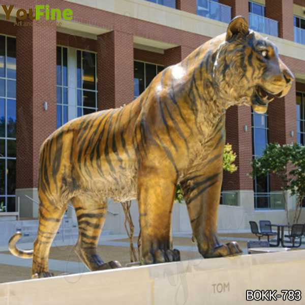 Large Bronze Tiger Statue for Sale for Outdoor Decor BOKK-783