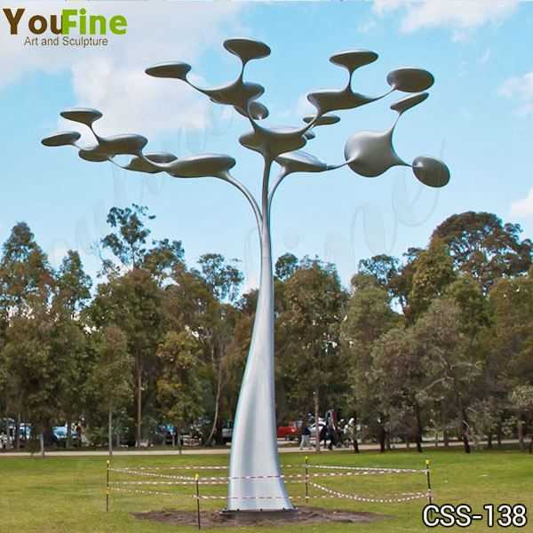 Large Metal Tree Sculpture Outdoor Stainless Steel Sculpture Supplier CSS-138