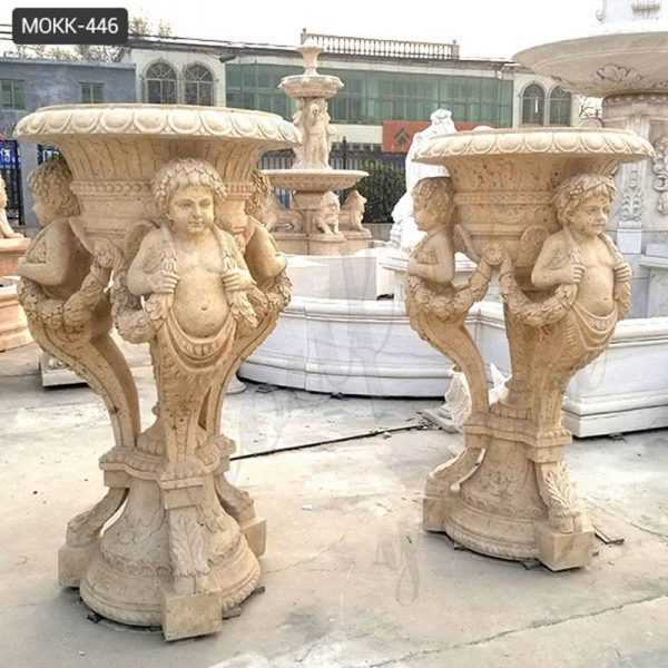Large Stone Flower Pots Classic European Style