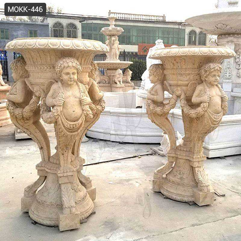 Large Stone Flower Pots Classic European Style Supplier MOKK-446