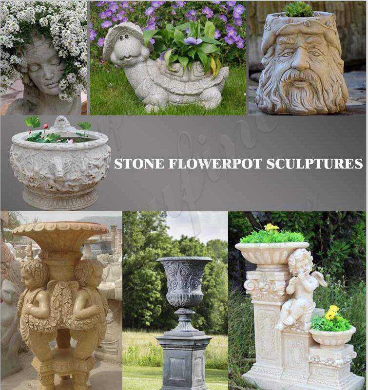 Large Stone Flower Pots on sale