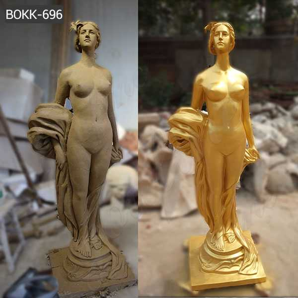 Life Size Bronze Golden Woman Statue