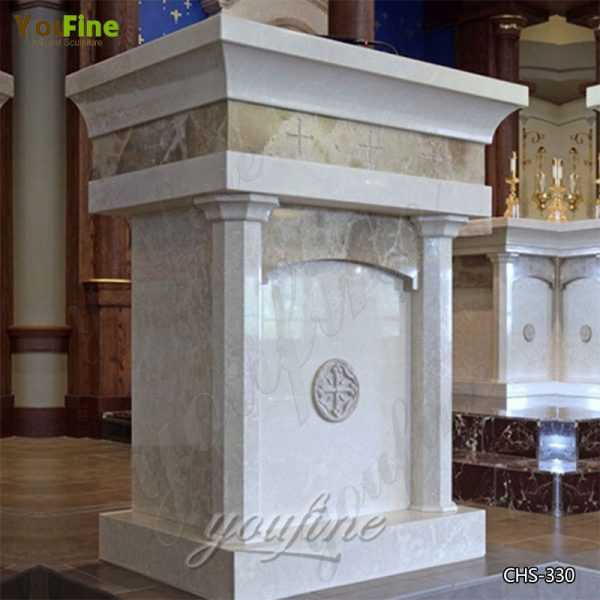 Life Size Granite Marble Church Pulpit for Sale CHS-330
