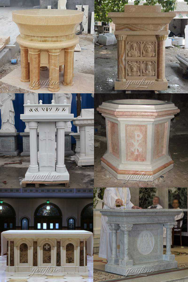 Life Size Marble Church Pulpit