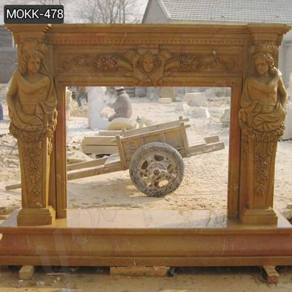 Ancient Marble Fireplace Mantels for European Style Supplier MOKK-478