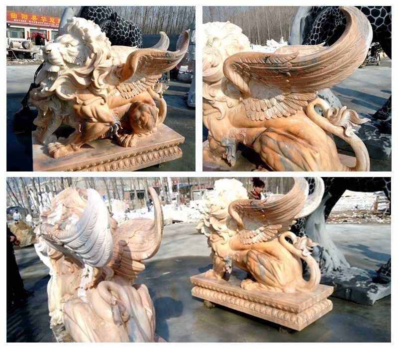 Marble Winged Lion Statue Supplier