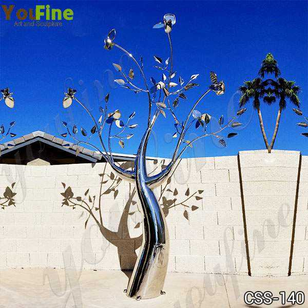 Metal Tree Sculpture Free Standing