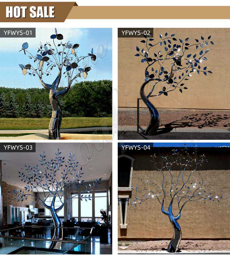 Metal Tree Sculpture Outdoor Stainless Steel Sculpture Supplier