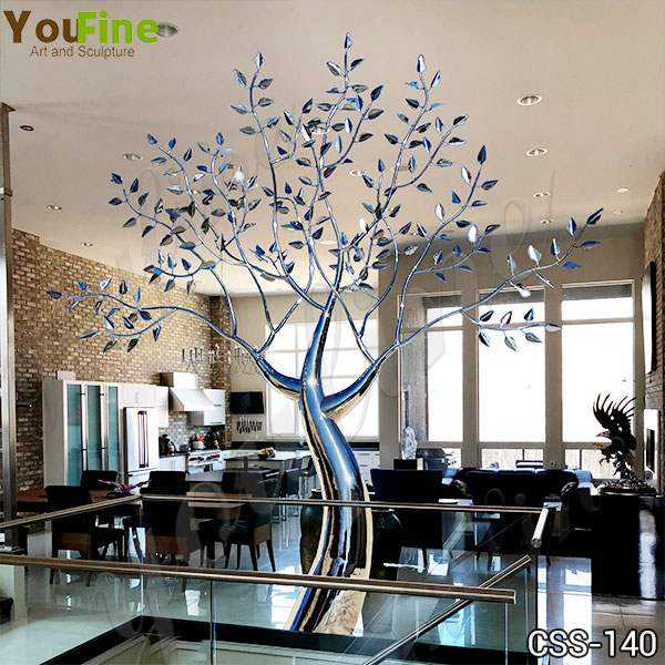 Outdoor Metal Tree Sculpture Free Standing Supplier CSS-140