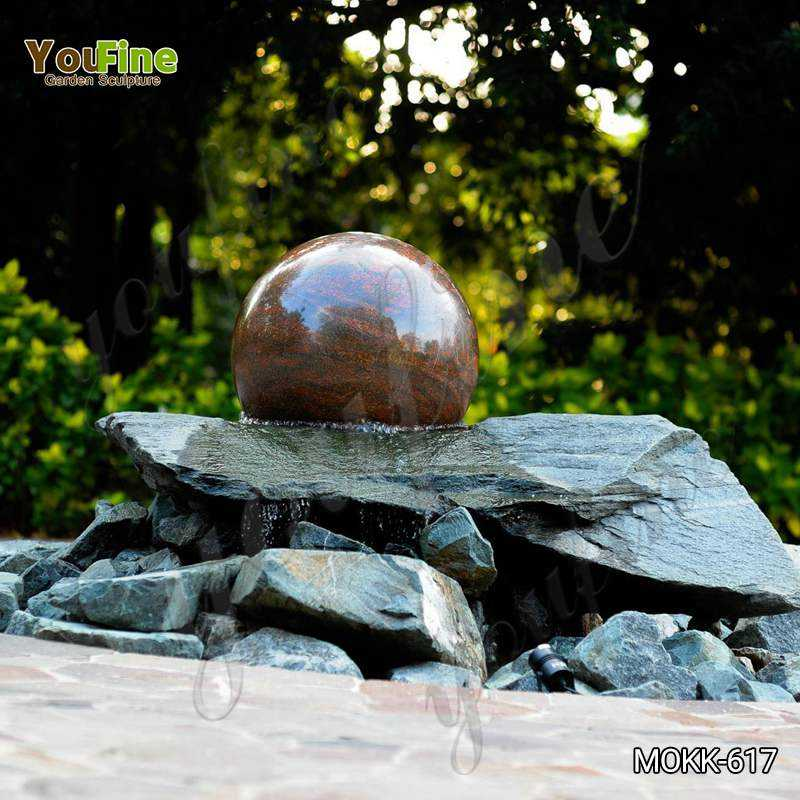 Natural Polished Granite Floating Ball Fountain for Sale