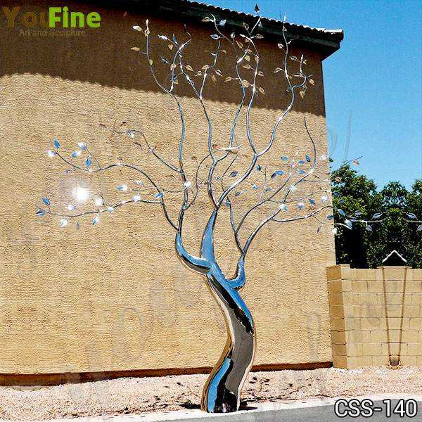 Outdoor Metal Tree Sculpture Free Standing
