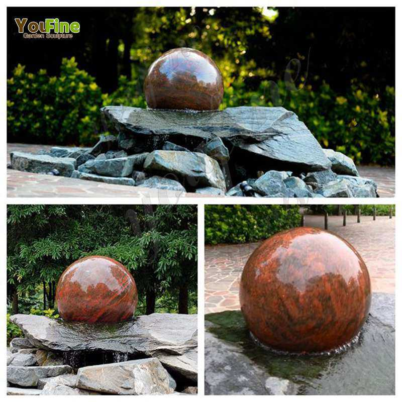 Polished Granite Floating Ball Fountain for Sale