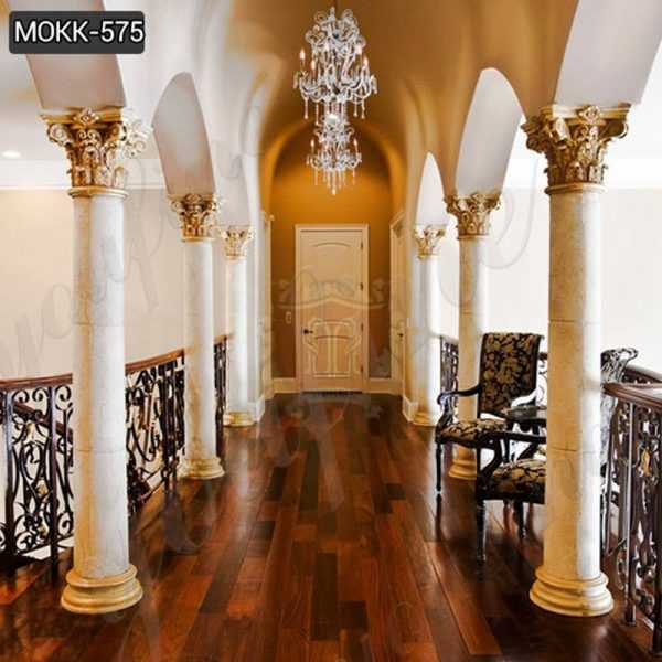Round Marble Columns for Home Interior Decor Supplier MOKK-575