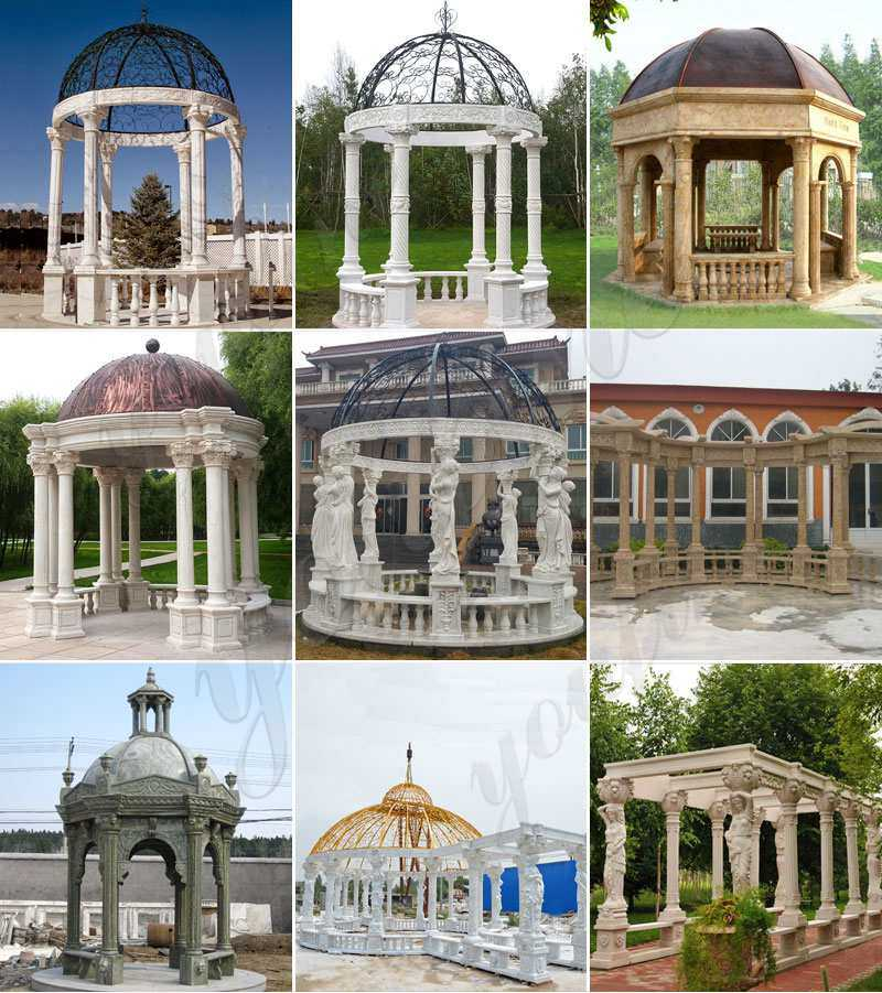 more designs of Marble Stone Gazebo for Sale