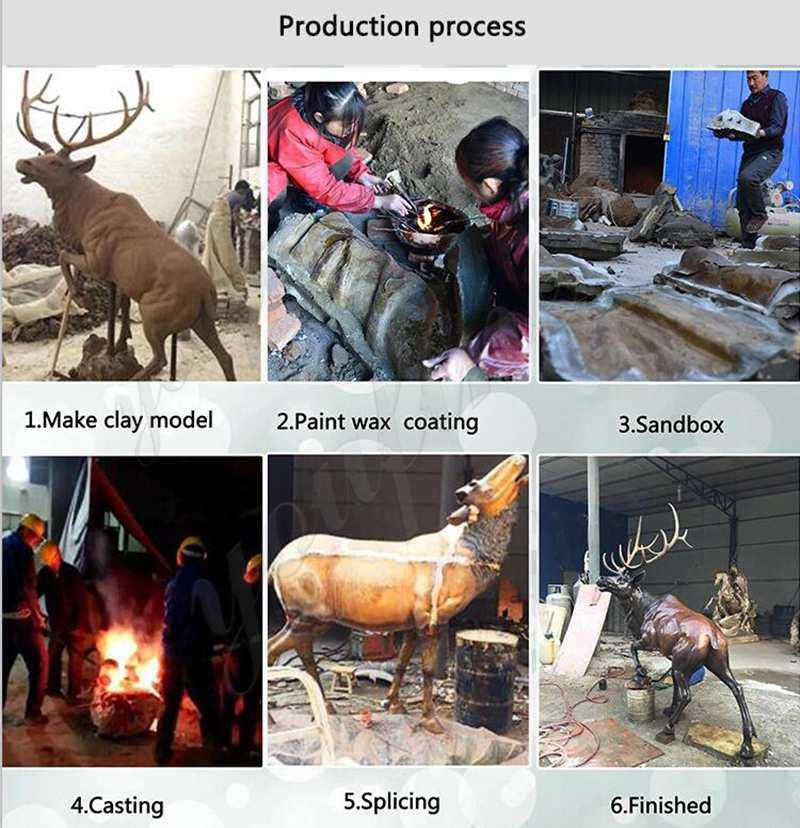 process of Bronze Horse Head Statue for Sale