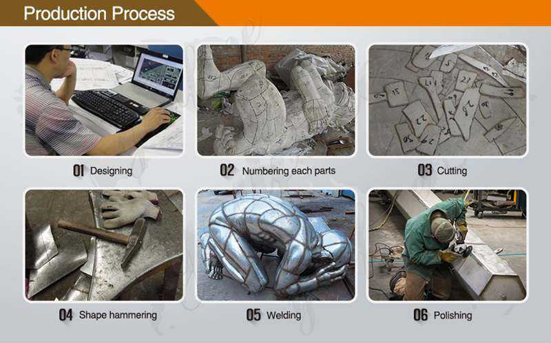 process of Stainless Steel Outdoor Sculpture