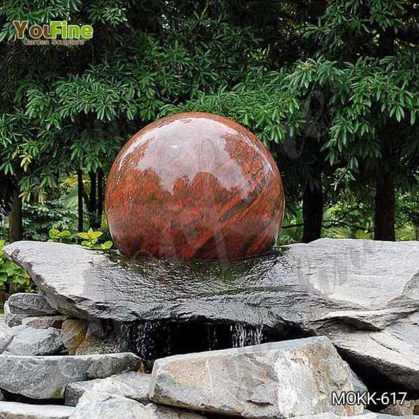 Natural Polished Granite Floating Ball Fountain for Sale MOKK-617
