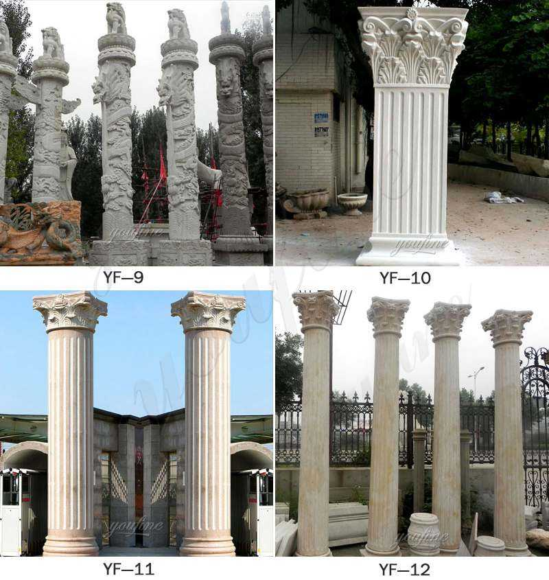 stone driveway entrance columns design for sale