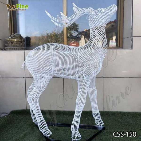 Abstract Stainless Steel Deer Sculpture