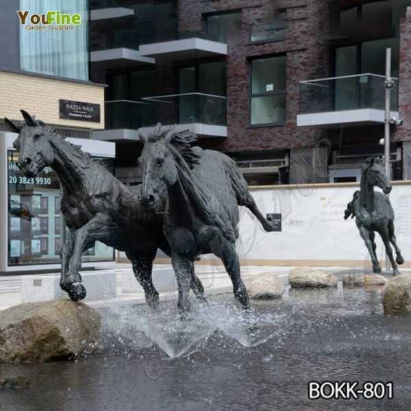 Antique Black Bronze Running Horse Statue Supplier