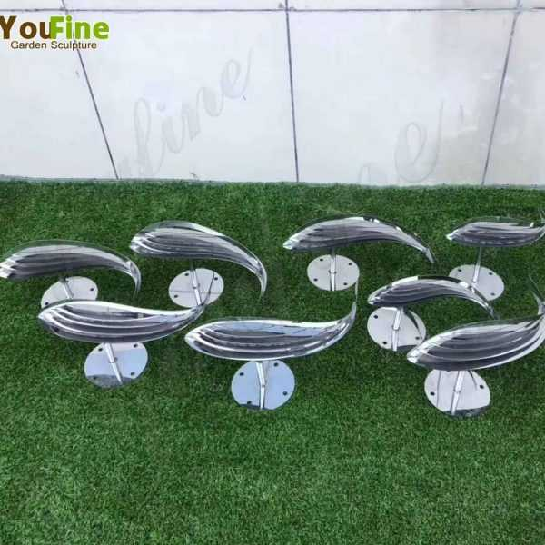 Beautiful Stainless Steel Fish Sculpture from Factory