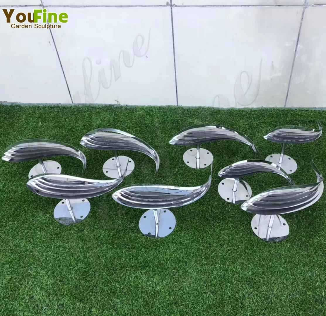 Beautiful Stainless Steel Fish Sculpture from Factory Supply CSS-143