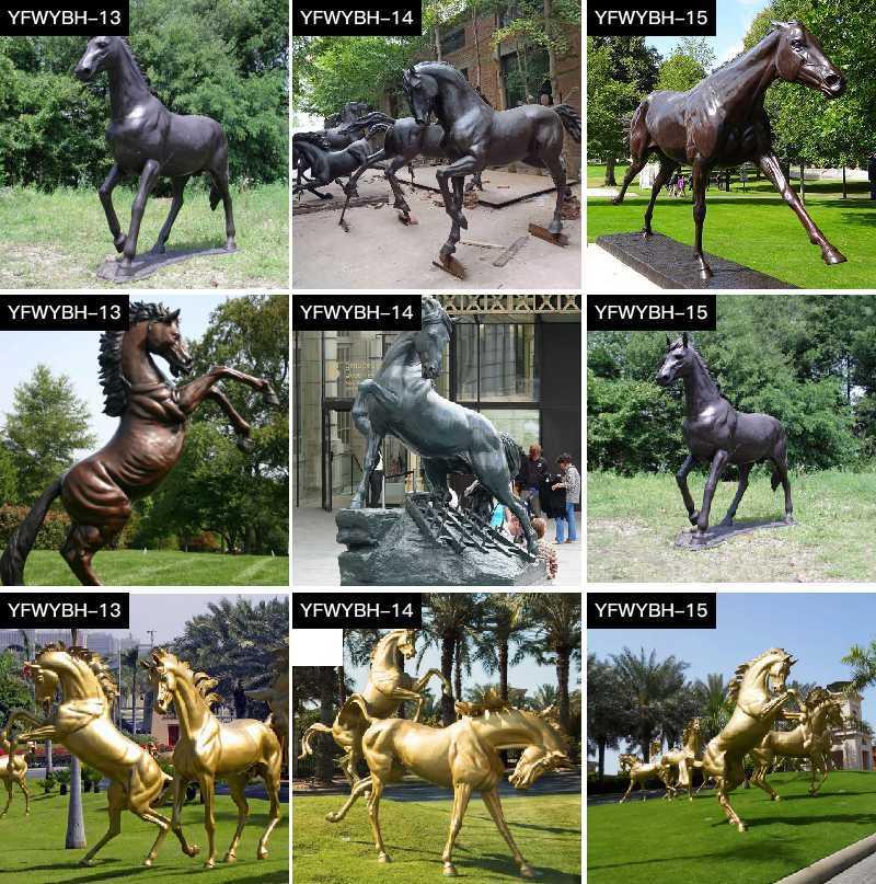 Bronze Garden Standing Horse Statue