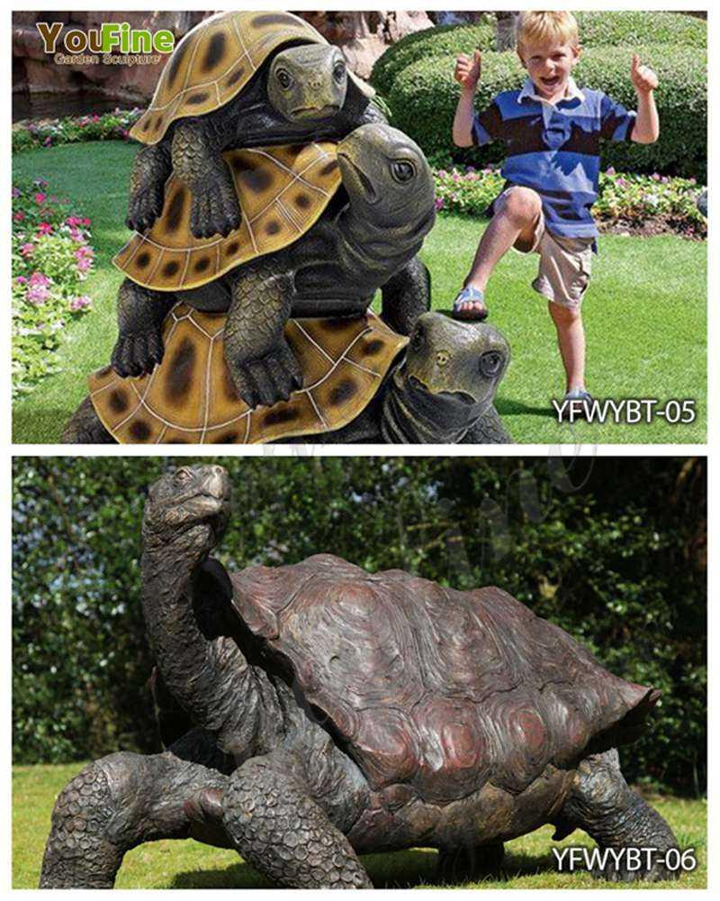 Bronze Giant Tortoise Garden Statue for Sale