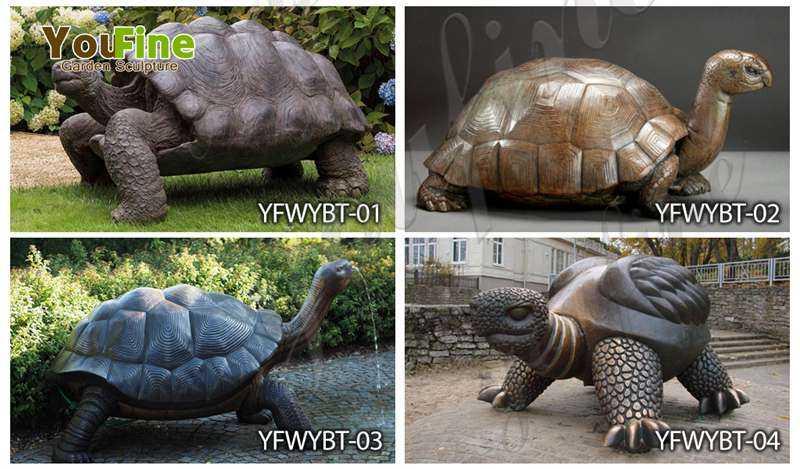 Bronze Giant Tortoise Garden Statue