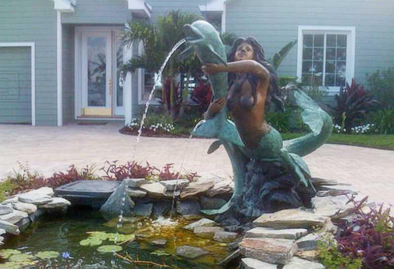 Bronze Mermaid Fountains