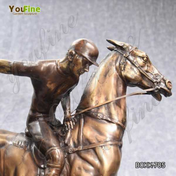 Bronze Polo Player on Horse