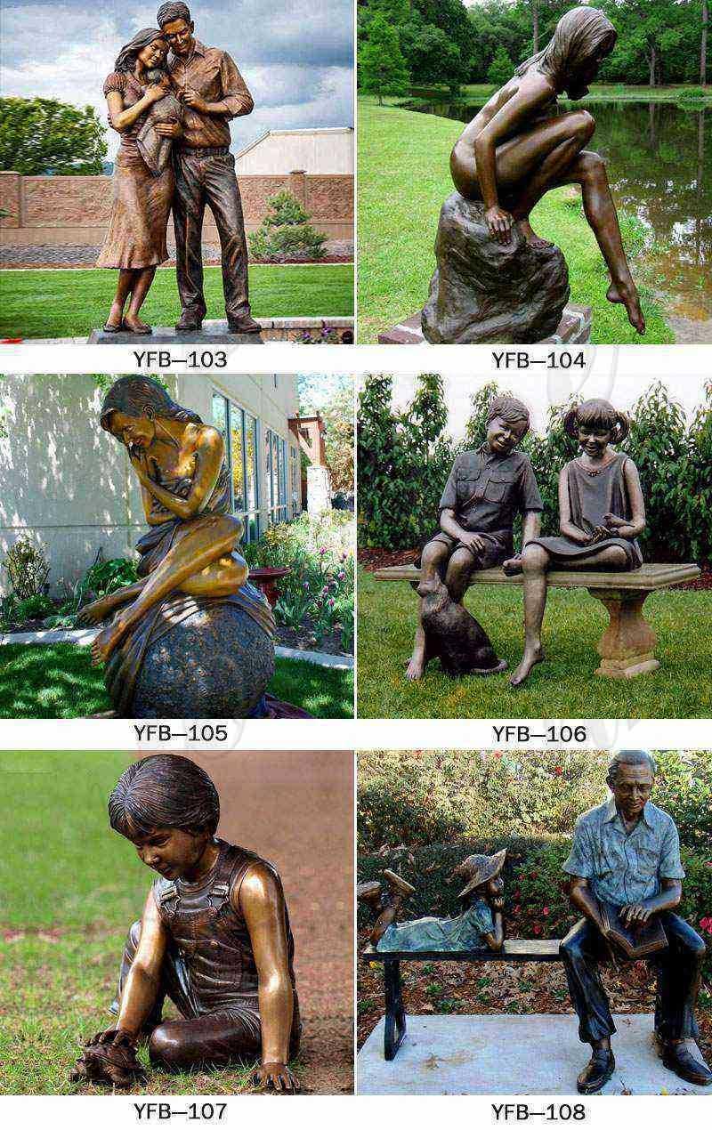 Bronze Statue of Children