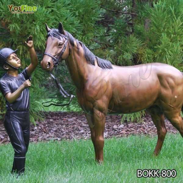 Buy Antique Bronze Horse and Knight Statue