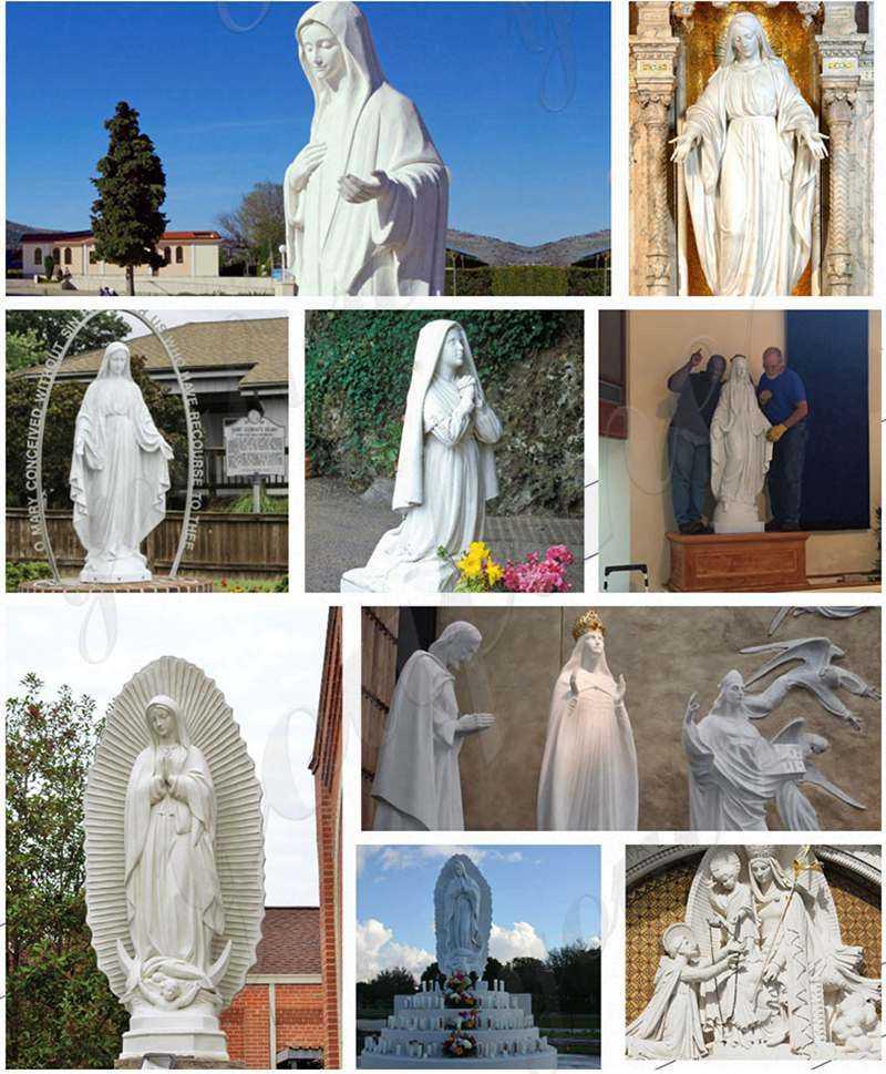Prayers to Virgin Mary staute