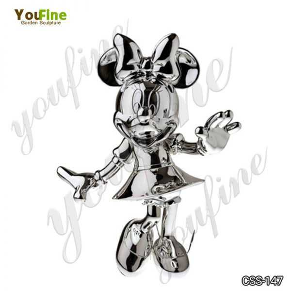 Cartoon Character Minnie Mouse Metal Sculpture for Sale
