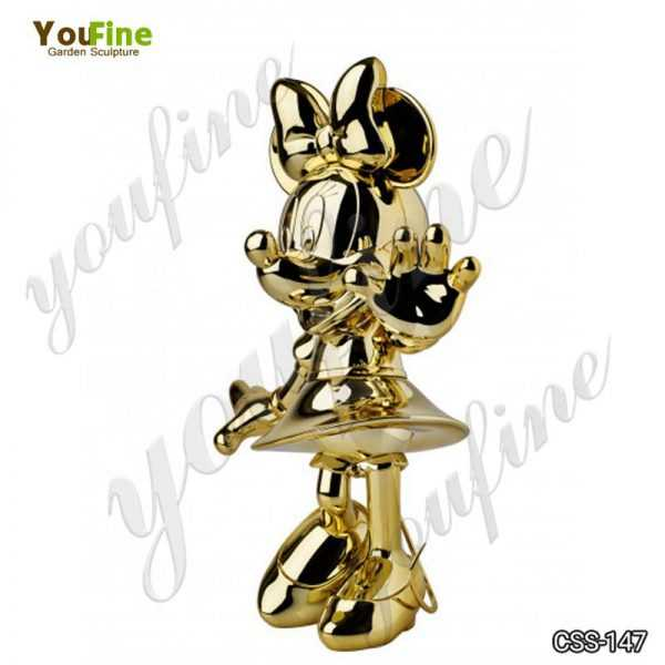 Cartoon Minnie Mouse Metal Sculpture for Sale