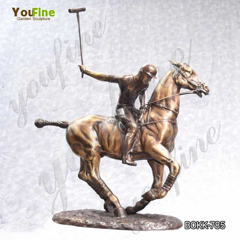 Casting Bronze Polo Player and Horse Statue for Sale BOKK-785