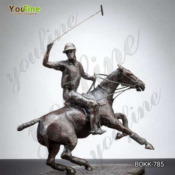 Casting Life Size Bronze Polo Statue on Horse for Sale BOKK-786