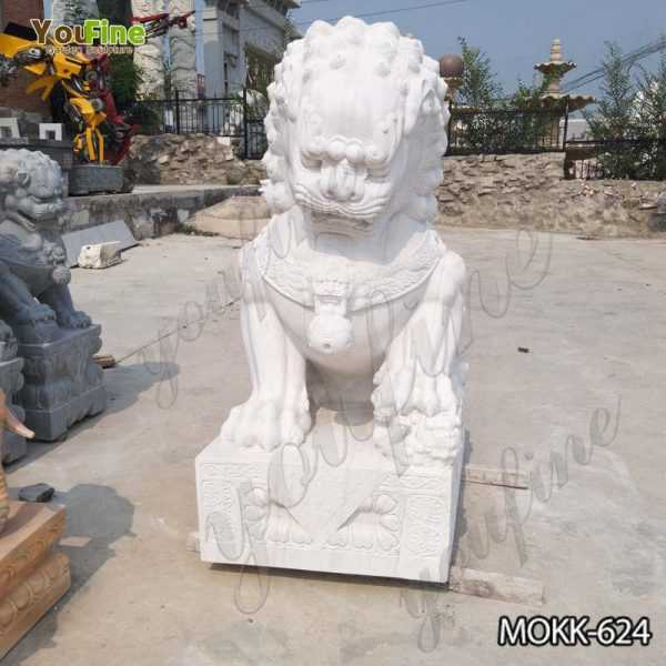 Chinese Lion Marble Statue